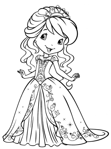 strawberry shortcake coloring page free printable coloring