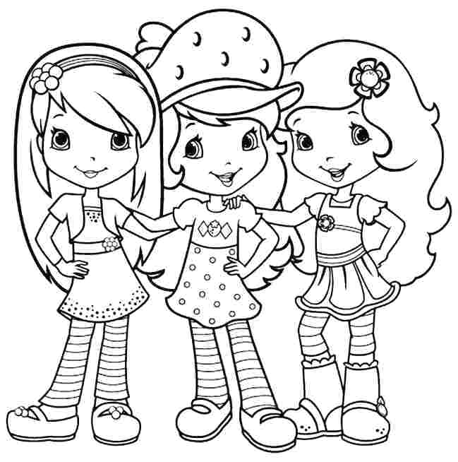 strawberry shortcake coloring pages printable