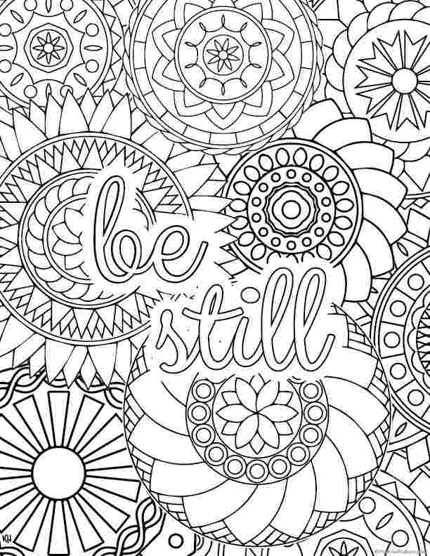 stress relief coloring pages easy these printable mandala