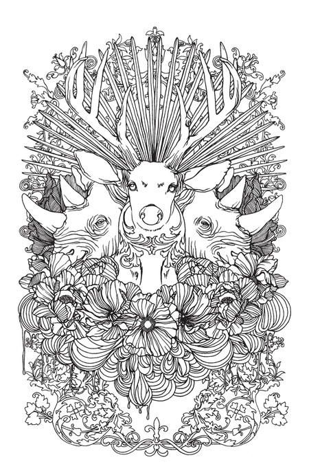 stunning wild animals coloring page animal coloring pages