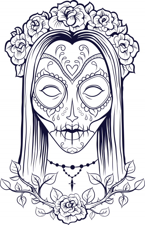sugar skull coloring page 9 skull coloring pages adult