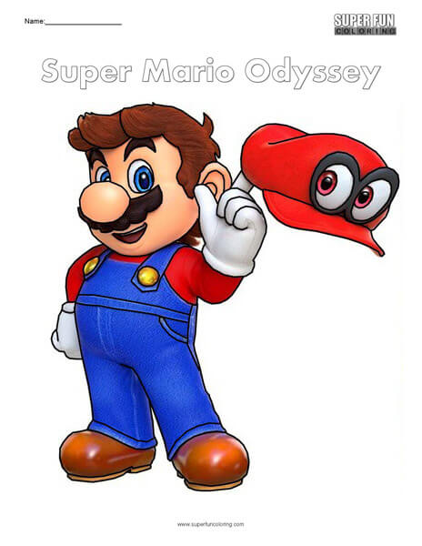 Mario Odyssey Coloring Pages Picture Whitesbelfast