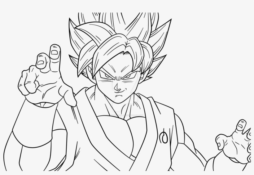 super saiyan coloring pages goku super saiyan blue drawing