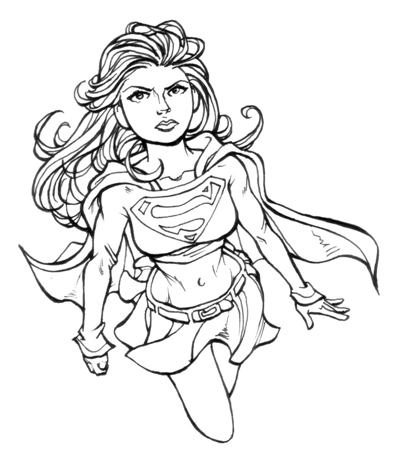 supergirl coloring pages best coloring pages for kids