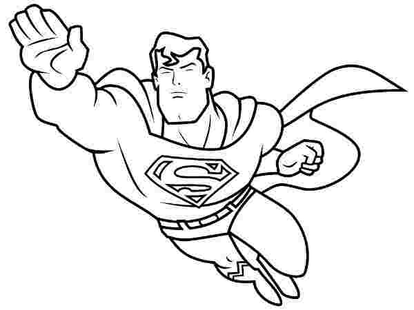superhero coloring pages easy free printable superhero