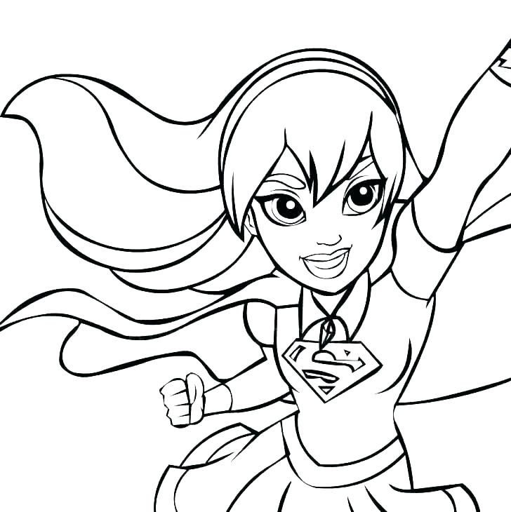 superman and supergirl coloring pages