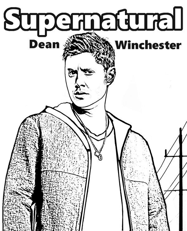 supernatural dean winchester printable image to color