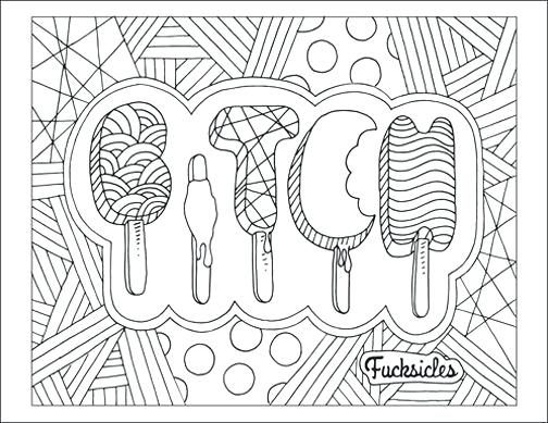 Curse Word Coloring Pages Pictures - Whitesbelfast