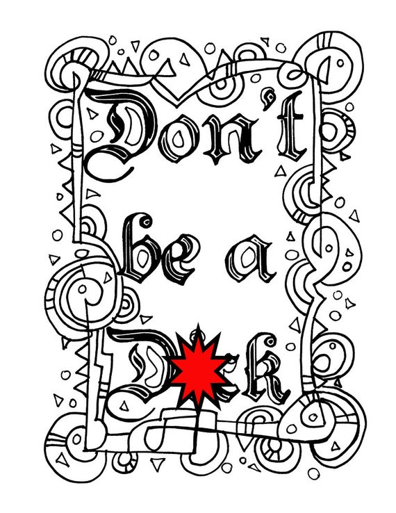 Swear Word Coloring Pages Gallery - Whitesbelfast