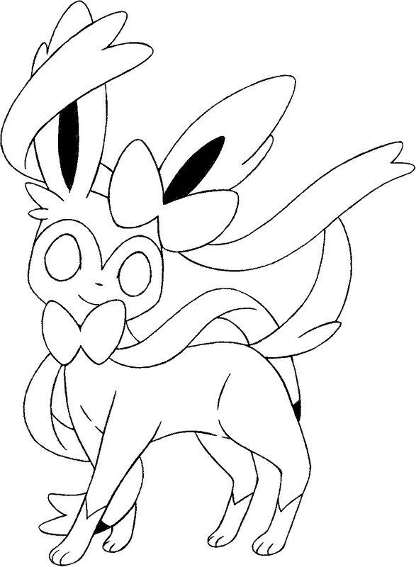 sylveon coloring pages pokemon coloring pages pokemon
