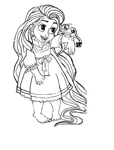 tangled coloring page for kids builddirectory