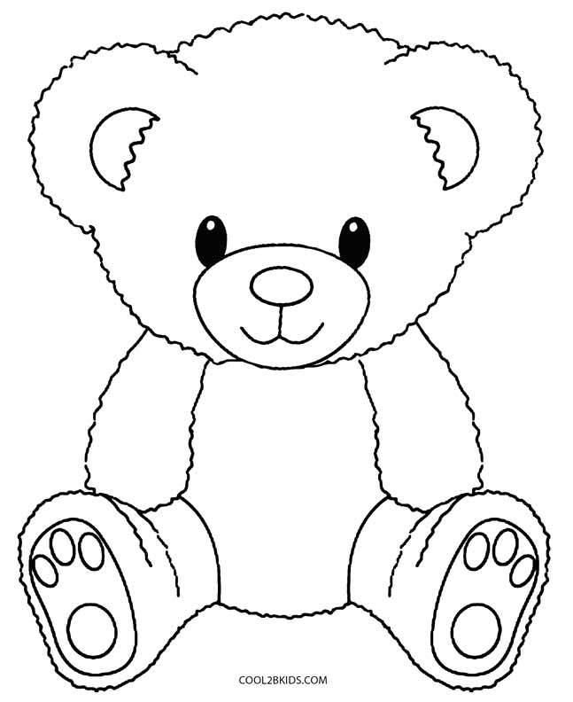 teddy bear template trend teddy bear coloring pages free