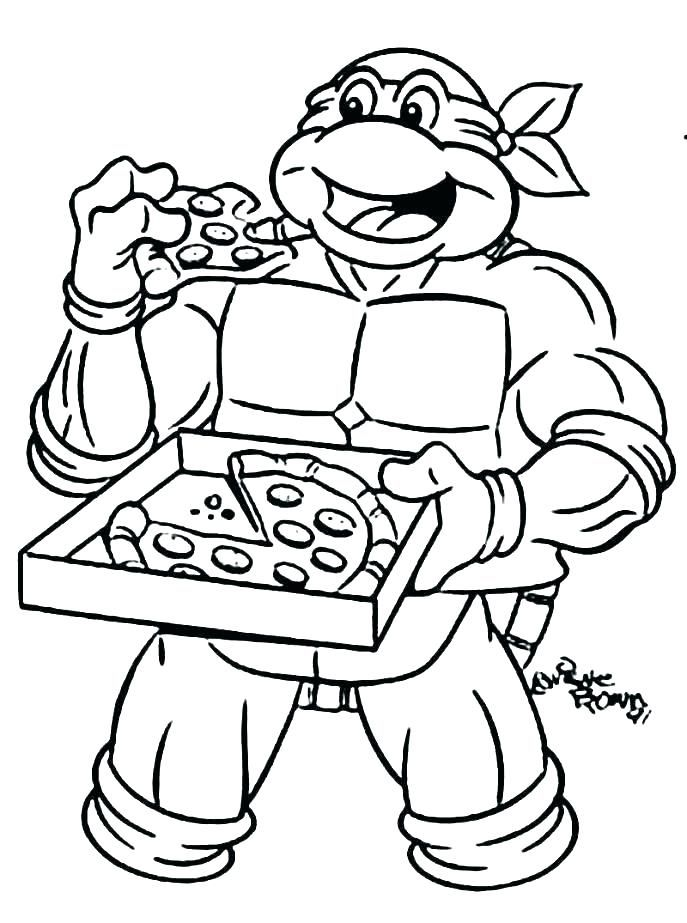 teenage mutant ninja turtles coloring pages omalovnky