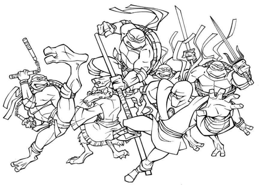 teenage mutant ninja turtles coloring pages print them for