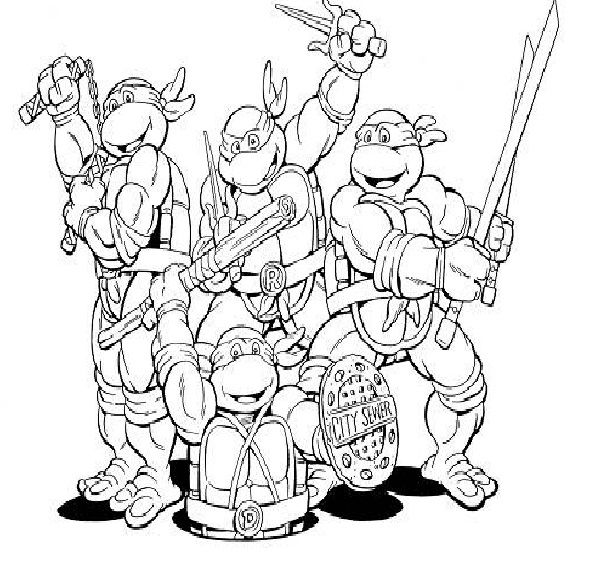 teenage mutant ninja turtles coloring pages to print for