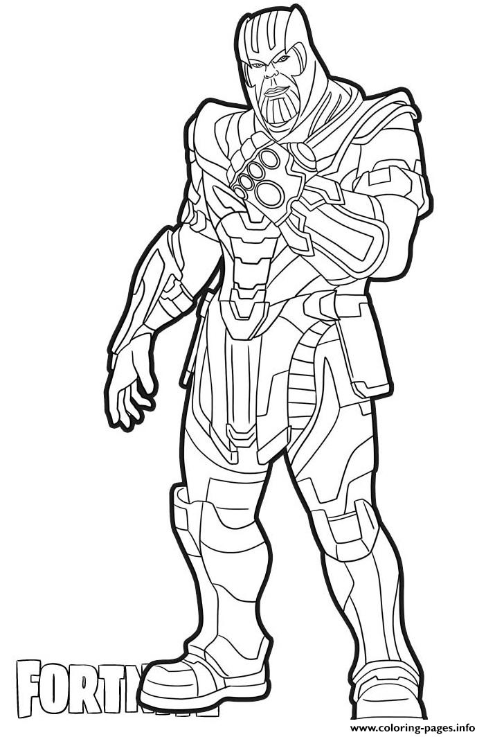 thanos skin from fortnite coloring pages printable