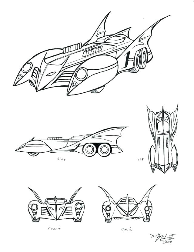 the best free batmobile coloring page images download from