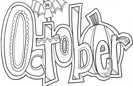 the best free october coloring page images download from