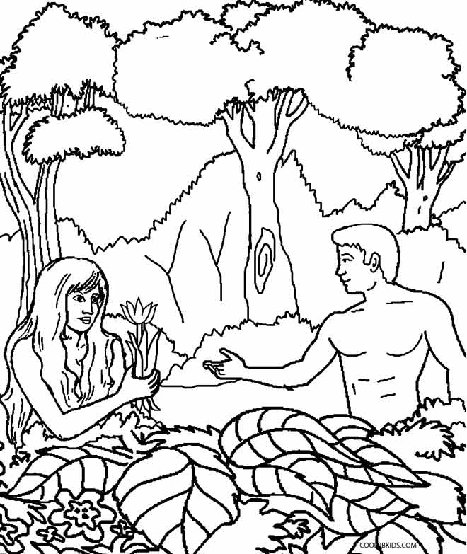 the garden of eden coloring pages