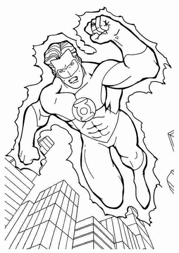 the green lantern coloring pages printable green lantern