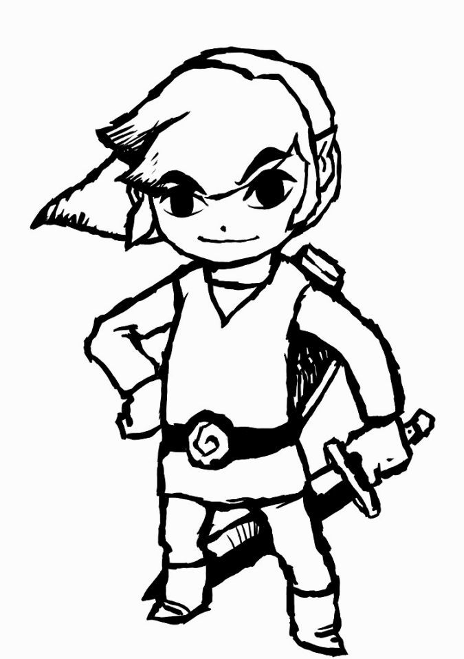 the legend of zelda coloring pages clip art library