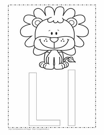 the letter l coloring page worksheets
