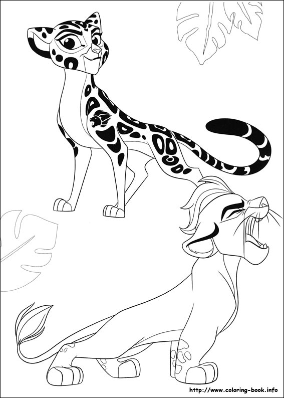 the lion guard coloring picture