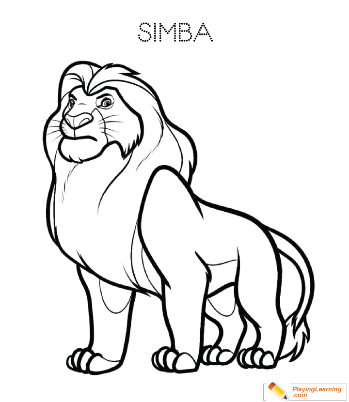 the lion king simba coloring page 02 free the lion king