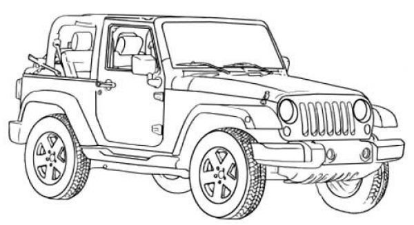 the most awesome beautiful jeep coloring pages http