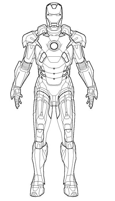the robot iron man coloring pages superhero coloring pages