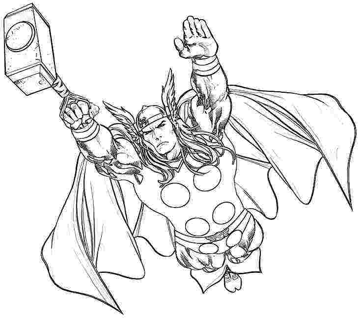 thor cartoon coloring pages thor cartoon coloring pages thor