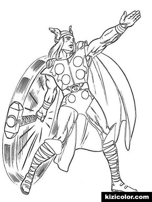 thor free printable coloring pages for girls and boys