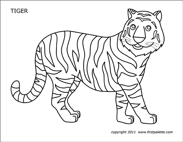 tiger free printable templates coloring pages