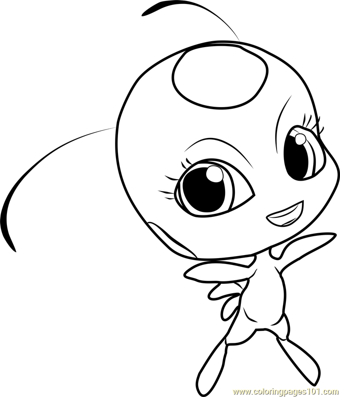 tikki coloring page free miraculous ladybug coloring pages