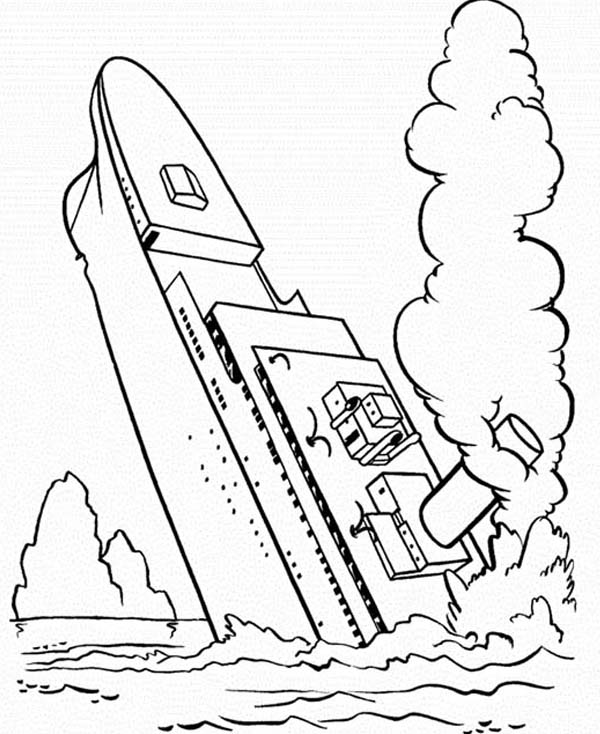 titanic sinking coloring pages at getdrawings free for