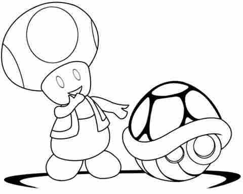 toad coloring pages from super mario pomorski