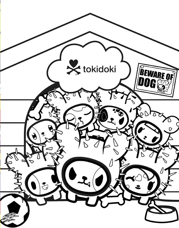 tokidoki coloring pages everything tokidoki donutella