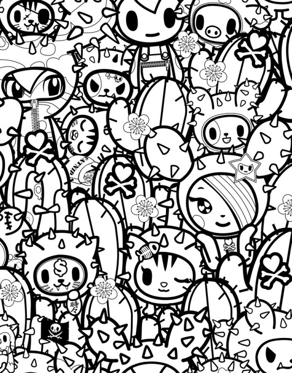 tokidoki coloring pages free