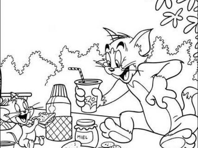 tom and jerry 147 cartoons printable coloring pages