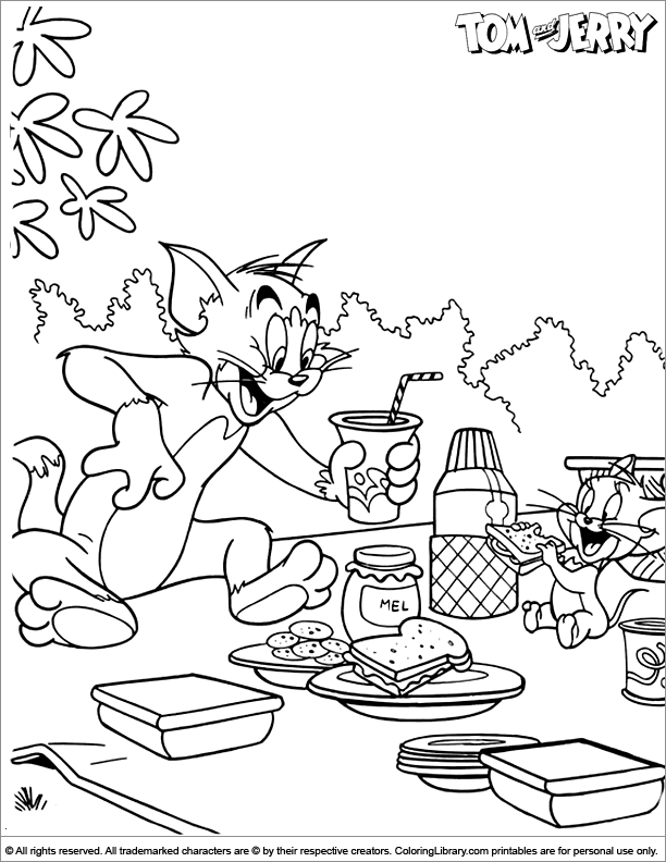 tom and jerry coloring page coloring library