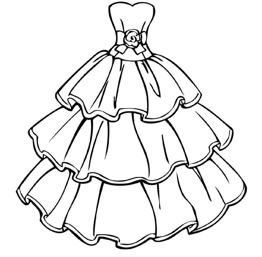 top coloring pages cute wedding dress coloring educative