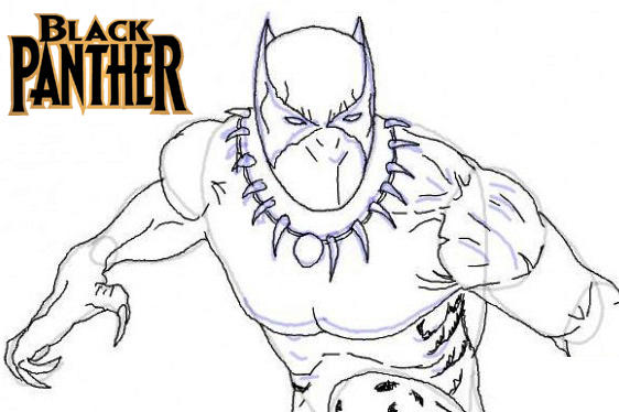 top marvel studio black panther coloring pages fun for kids