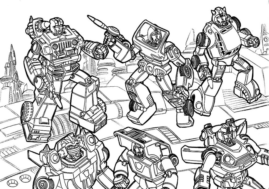 transformers coloring pages print or download for free for