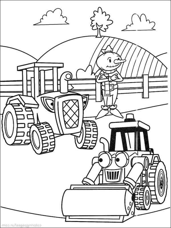 travis with scoop coloring pages bob the builder coloring