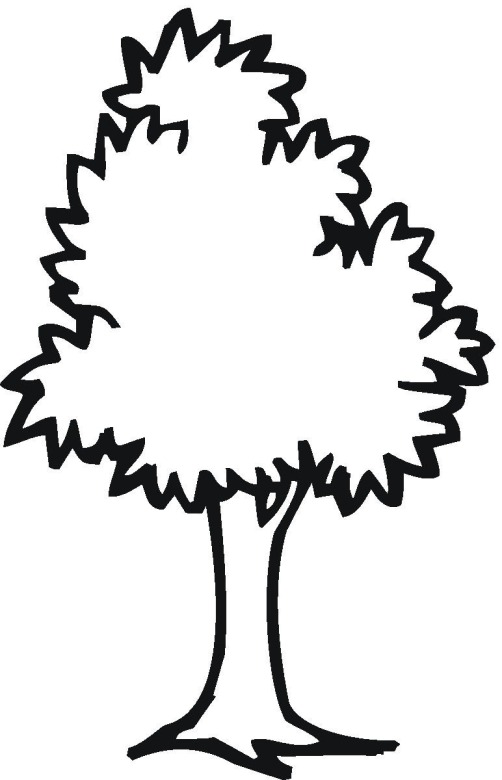 tree 5 coloring page