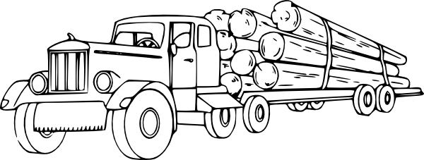 truck carrying lumber truck coloring pages coloring pages