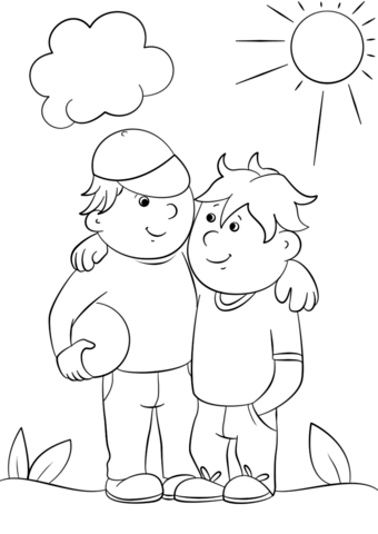 two best friends coloring page free printable coloring pages