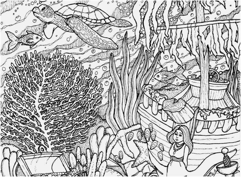 underwater coloring pages printable footage intricate color