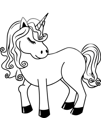 unicorn coloring page free printable coloring pages
