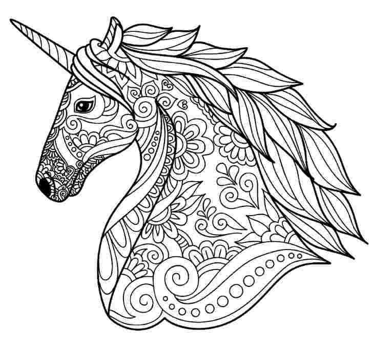 unicorn coloring pages detailed detailed unicorn coloring